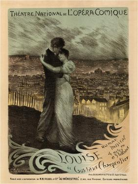 Poster for the Oper Louise by Gustave Charpentier, 1900 by Georges Antoine Rochegrosse