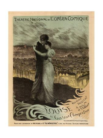 Poster for the Oper Louise by Gustave Charpentier