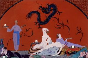 At the House of Pasotz, c.1921 by Georges Barbier