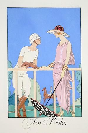 At the Polo, from 'Falbalas and Fanfreluches, Almanach Des Modes Présentes, Passées Et Futures'