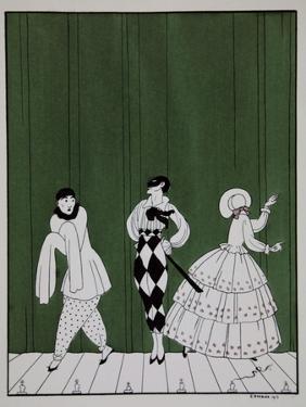 Carnaval, from the Series Designs on the Dances of Vaslav Nijinsky by Georges Barbier