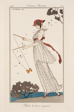 Dress in Printed Linen, Illustration from 'Journal des Dames et des Modes', 1913 by Georges Barbier