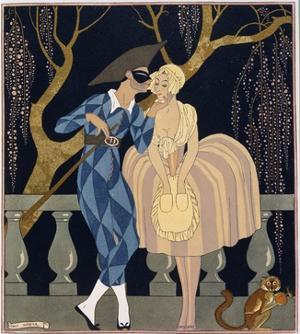 Harlequin's Kiss by Georges Barbier