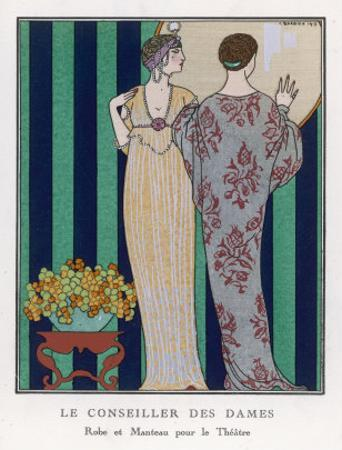 High-Waisted Clinging Gown by Georges Barbier