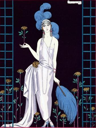La Roseraie', Fashion Design for an Evening Dress by the House of Worth by Georges Barbier