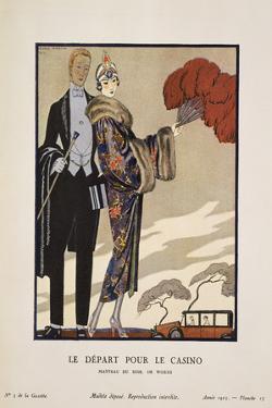 Le Depart Pour Le Casino by Georges Barbier