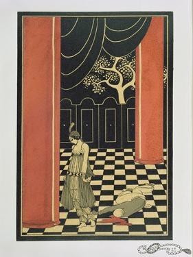 Tamara Karsavina (1885-1978) in Fokine's 'Thamar' in 1912, Pub. 1914 by Georges Barbier