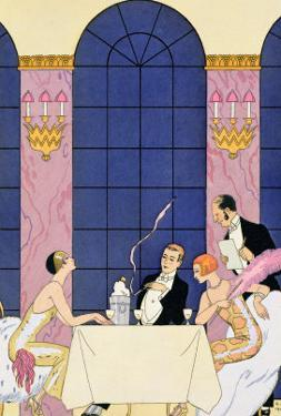 The Gourmands, 1920-30 by Georges Barbier