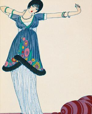 Woman Stretching by Georges Barbier