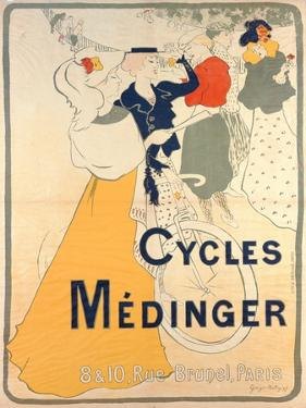 Poster Advertising Medinger Bicycles, 1897 by Georges Bottini