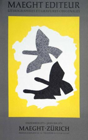 Lithographie, 1973 by Georges Braque