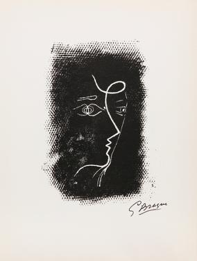 Profil de Femme from Souvenirs de Portraits d'Artistes. Jacques PrŽvert: Le Coeur by Georges Braque