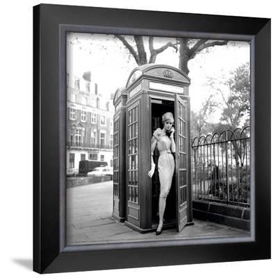 Lucinda in a Telephone Box, London, 1959