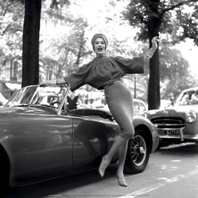 M.G. Girl, Paris, 1957 by Georges Dambier