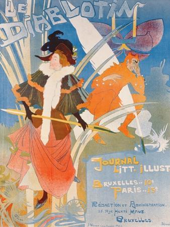 Cover Illustration of 'Le Diablotin' Magazine by Georges de Feure