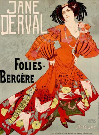Jane Derval, Folies Bergere by Georges de Feure