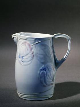 Pitcher with Floral Decorations on White Background, 1900 by Georges de Feure