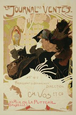 Reproduction of a Poster Advertising 'Le Journal Des Ventes', 1897 by Georges de Feure