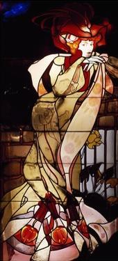 Stained-Glass Window Depicting Female Figure, 1901-1902 by Georges de Feure