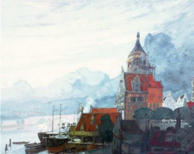 Village Pres de la Mer by Georges de Feure