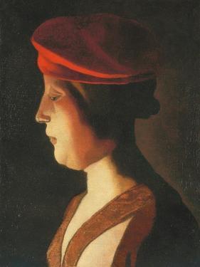 Head of a woman; a fragment by Georges De La Tour