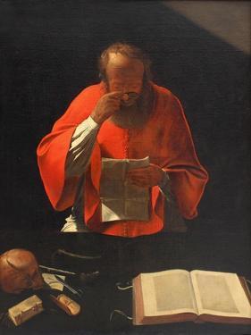 Saint Jerome Reading (Cop), Ca 1636 by Georges de La Tour