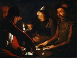 Soldiers Playing Cards, 17th Century by Georges de La Tour
