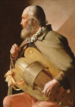 The Blind Hurdy Gurdy Player by Georges de La Tour