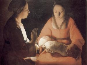 The Newborn Baby by Georges de La Tour