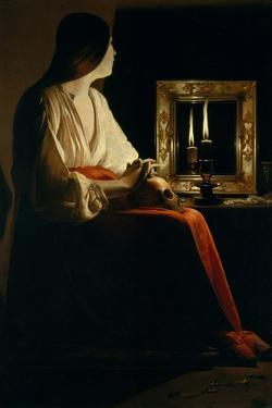 The Penitent Magdalen, c.1640 by Georges de La Tour