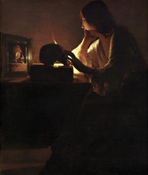 The Repentant Magdalen by Georges De La Tour by Georges De La Tour
