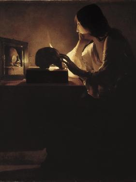 The Repentant Magdalen by Georges de La Tour