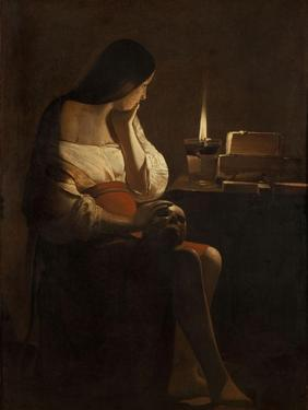 The Repentant Mary Magdalene by Georges de La Tour