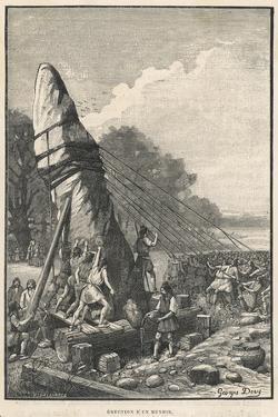 Erecting a Menhir by Georges Devy