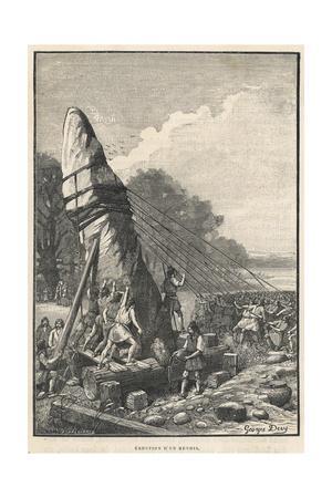 Erecting a Menhir