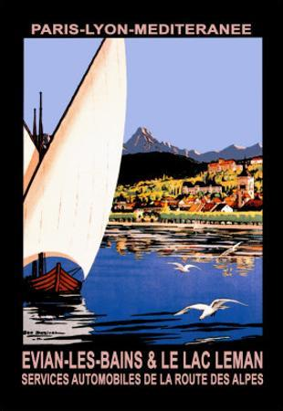 Evian les Bains and le Lac Leman by Georges Dorival