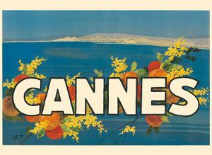 Cannes France - Côte d'Azur - French Riviera by Georges Goursat aka SEM