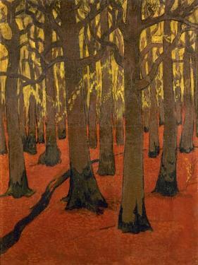 La Forêt au sol rouge by Georges Lacombe