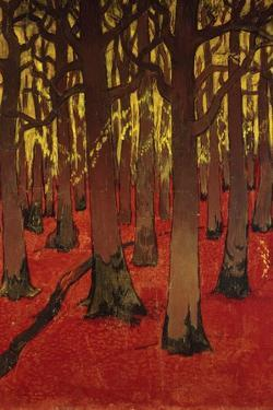 The Forest with Red Earth, C. 1891 by Georges Lacombe