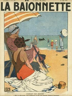 Beach Watchers by Georges Leonnec