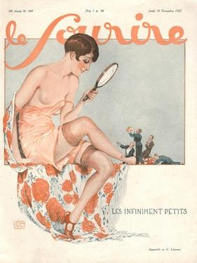Front Cover of 'Le Sourire', November 1927 by Georges Leonnec