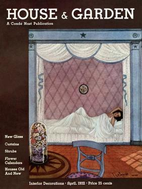 House & Garden Cover - April 1932 by Georges Lepape