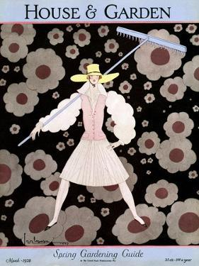 House & Garden Cover - March 1928 by Georges Lepape