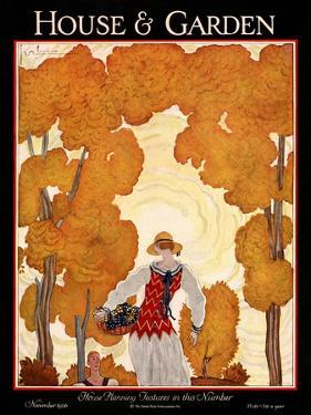 House & Garden Cover - November 1926 by Georges Lepape