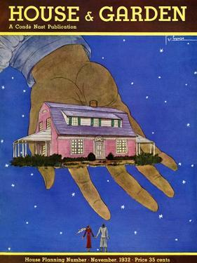 House & Garden Cover - November 1932 by Georges Lepape