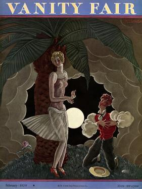 Vanity Fair Cover - February 1929 by Georges Lepape
