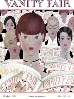 Vanity Fair Cover - October 1928 by Georges Lepape