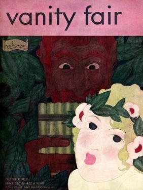 Vanity Fair Cover - October 1929 by Georges Lepape