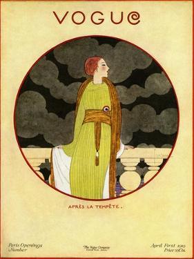 Vogue Cover - April 1919 by Georges Lepape