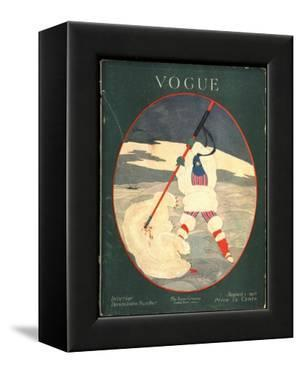 Vogue Cover - August 1917 by Georges Lepape